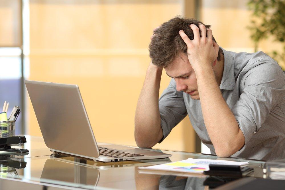 Junger Existenzgründer leidet an Burnout